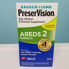 Bausch + Lomb PreserVision Eye Vitamin AREDS 2 Formula 180 Softgels (not 120)
