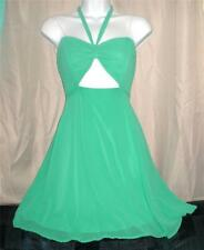 KELLY GREEN MINT CUT OUT SEXY SALSA DANCING DRESS A LINE HALTER SWEETHEART M NWT