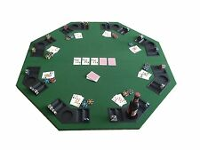 New 8 Player Folding Poker Tables Top Holden Blackjack Tabletop Casino Octagon
