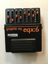 Washburn EQX:6 Graphic EQ 7-Band Equalizer Rare Vintage Guitar Effect Pedal