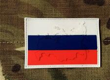 Embossed Russian Russia Flag Airsoft PVC Patch