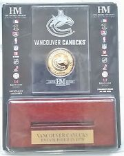 Vancouver Canucks NHL 24KT Gold Coin Wood & Acrylic Display