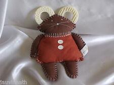 Doudou souris marron, anneaux de dentition, Difrax, Blankie/Lovey/Newborn toy