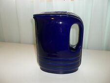 Vintage Art Deco Westinghouse Hall China Co Cobalt Blue Refrigerator Pitcher