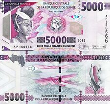 Guinea - 5000 Francs - UNC currency note - 2015 issue