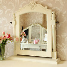 Cream Wooden Dressing Table Mirror Shabby French Chic Girls Bedroom Make Up Desk