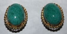 CINER signed JAW DROPPING GLASS EARRINGS  STUNNING!!!!!!!!!!!!