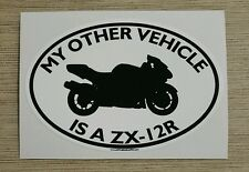 My Other Vehicle Is A ZX-12R Sticker- for motorcycle kawasaki zx 12 r zx12r