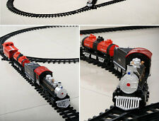 Electric Train Set Educational Toys Kids Battery Operated Railway Car Xmas Gift