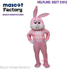 Bunny Rabbit cartoon fur big mascot costume for b'day party Halloween