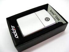 ZIPPO Full Size Brushed CHROME ARMOR Windproof Lighter Model 162 New!