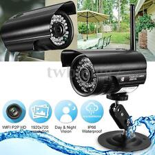 P2P Home Security HD IP Camera Waterproof Wifi Wireless System Outdoor CCTV DVR