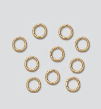 "14kt Yellow Gold ""JUMP RINGS"" 20 Ga / 5 MM O/D Pkg. Of 2 Saw-Cut Made In USA 185"