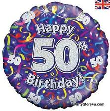 "18"" FOIL BALLOON ""HAPPY 50TH BIRTHDAY"" CELEBRATION"