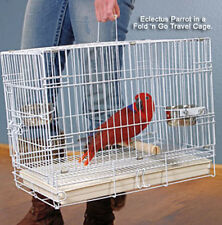 NEW Large Parrot Bird Travel Carrier Foldable Cage J602-White-175