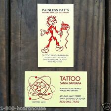 50 Original REDDY KILOWATT Painless Pat Tattoo Parlor SANTA BARBARA Cards 1990s