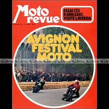 MOTO REVUE N°2089 KAWASAKI 125 TOURING GUZZI V7 SPORT SAARINEN LAVERDA MANS 1972