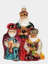 Three Wise Men Polish Blown Glass Christmas Ornament Kings Nativity Decoration