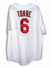 Joe Torre Autographed Majestic Inscribed Throwback Jersey St. Louis Cardinals