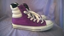 CONVERSE ALL STARS Children's Purple Padded High Top Sneakers Size Youth 6
