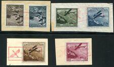 Liechtenstein 1930 108-113 con sello vuelo post 300 € (d4430