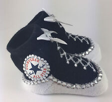 Customised Baby Unisex Black Converse Booties socks Romany Reborn
