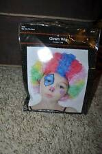NWT-Girls Kids Multi Color Curly Hair Clown Halloween Wig-OS