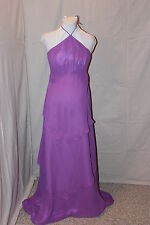 NWT Violet chiffon Maternity formal gown, Bust: 38 with matching shawl/purse