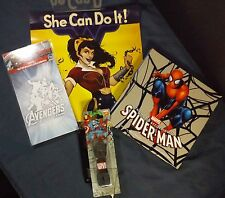 Superhero Items Lot of 4 Avengers Wonder Woman Spider Man Loot Crate Geek Fuel