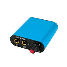 Miniature Tattoo Machine Power Supply Standard Phono Plug In Foot Pedal BLUE