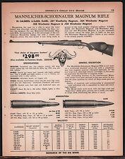 1961 MANNLICHER-SCHOENAUER Magnum Rifle AD