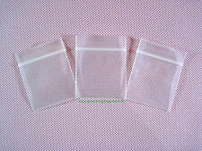 "50 Thick Plastic Ziplock Clear Reclosable Zipper Bags 1.5"" x 2""_40 x 50mm"