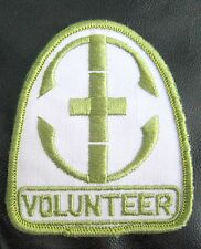 "VOLUNTEER  EMBROIDERED SEW ON ONLY PATCH NAME PERSONAL 3""  x  3 1/2"""