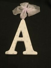 AMSCAN Ceramic Baby Wall Letter A Light Blue/Lavander Different Designs 449060