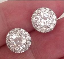 18K White Gold 2.15 carat Diamond Cluster Earrings   306