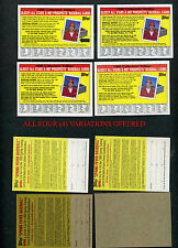 "1988 TOPPS ""BIG"" INSERT COLLECTOR'S EDITION ""BLACK ARROW"" ERROR VARIATIONS 4 DIF"