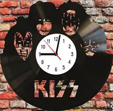 KISS music Vinyl LP Wall Clock Art Design Handmade