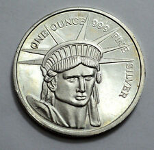 RARE Silver Bullion Statue of Liberty HEAD Commemorative 1 OZ .999 Silver Round