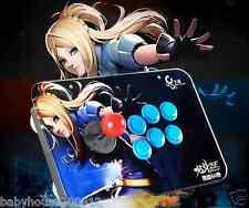 Fighting Stick Arcade Square Joystick 6 Buttons Street Fighter Play Game PC USB