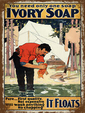 vintage retro style Ivory soap advert poster image metal sign wall door plaque