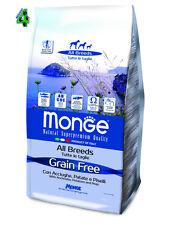 MONGE GRAIN FREE Acciughe Patate 12 kg all breed medium maxi alimento per cani .