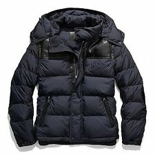 Coach Authentic Men's CLARKSON 83999 Navy Down Jacket/Vest w/Leather Small $598