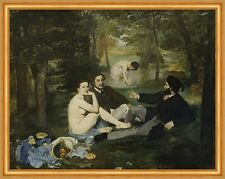 Luncheon on the Grass Edouard Manet Picknick Garten Wald Bad Wiese B A2 01482