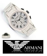 NWT $ 545 EMPORIO ARMANI MEN'S CHRONOGRAPH CERAMIC WATCH AR1459