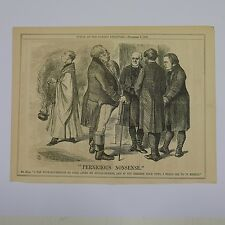 "7x10"" punch cartoon 1866 PERNICIOUS NONSENSE"