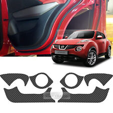 Carbon Door Decal Sticker Cover Kick Protector For NISSAN 2013-2016 2017 Juke
