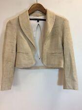 Lindsey Thornburg Linen Deconstructed Slit Back Jacket Small
