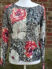 Prima Bella Knit Cardigan Sweater Sequin Detail Size PM Rayon
