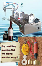bottle capping machine,single nozzle liquid water sauce filling machine 10-300ML