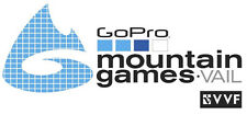 """GoPro (ACTION CAMERA) MOUNTAIN GAMES VAIL CO VVF 6"""" X 3"""" SOLID DIE CUT STICKER!"""